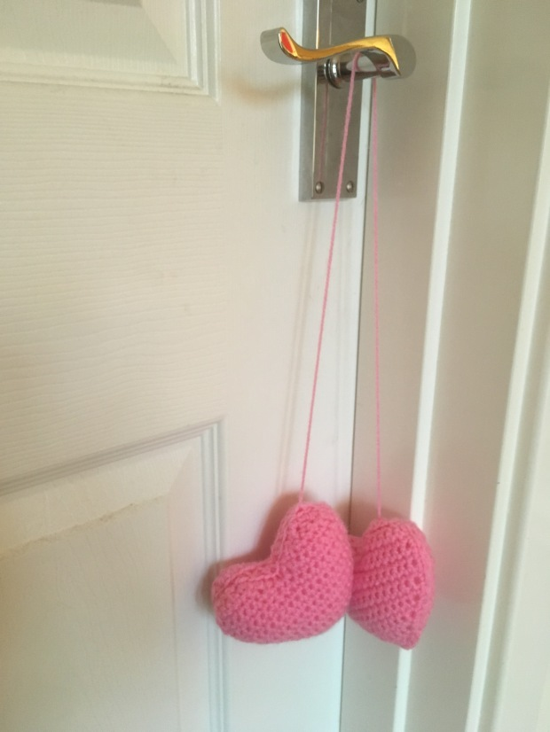 heart hanging dice