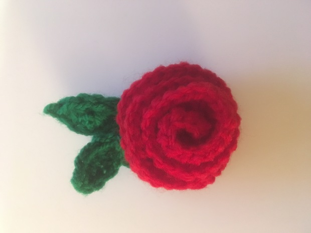 rose brooch red